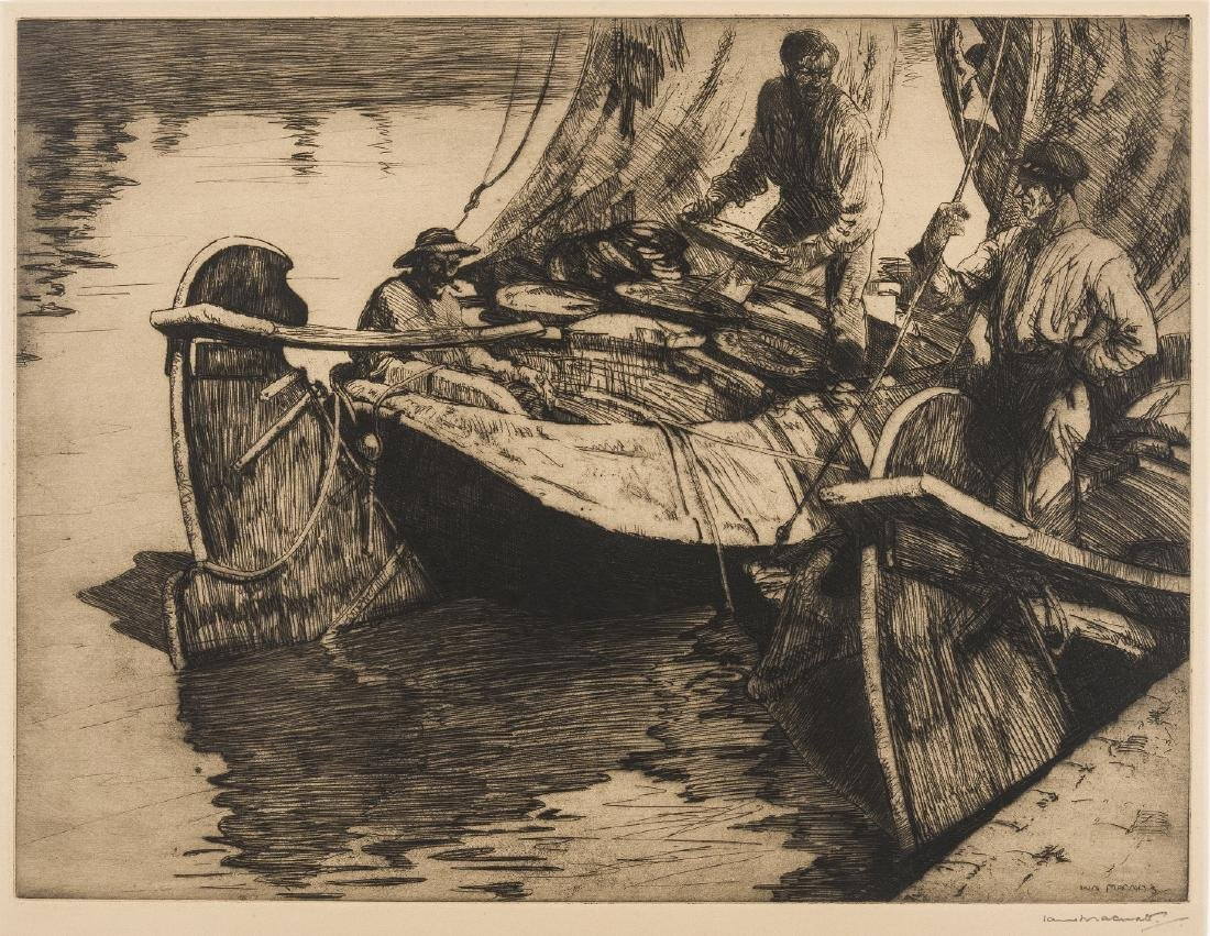 δ Iain Macnab (1890-1967)  Unloading the catch