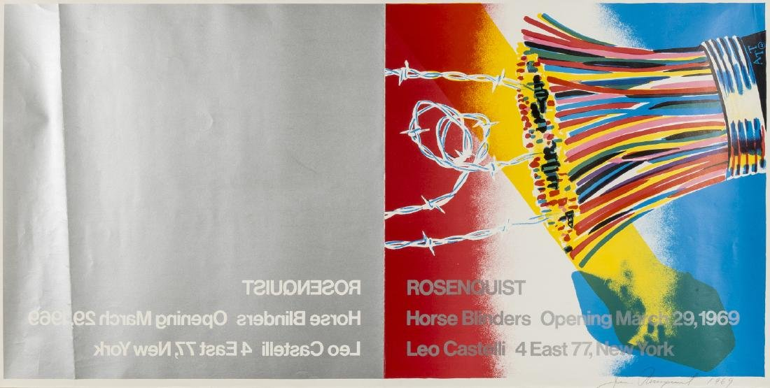 James Rosenquist (1933-2017)  Poster for Leo Castelli