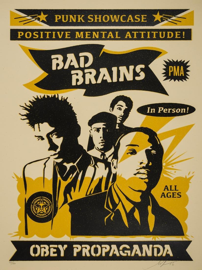 Shepard Fairey (b.1970)  Bad Brains Punk Showcase (Rock