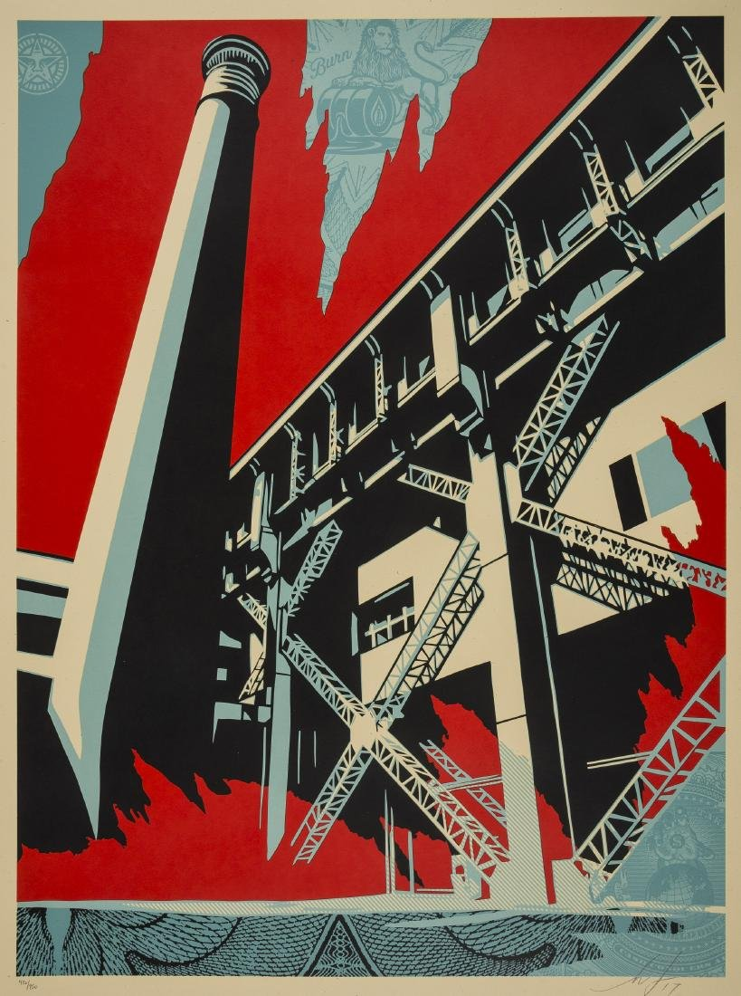 Shepard Fairey (b.1970)  Fossil Factory