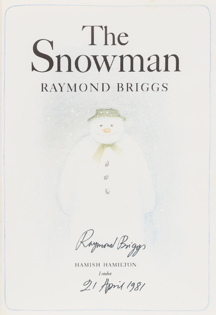 Briggs (Raymond) The Snowman, first edition, signed by