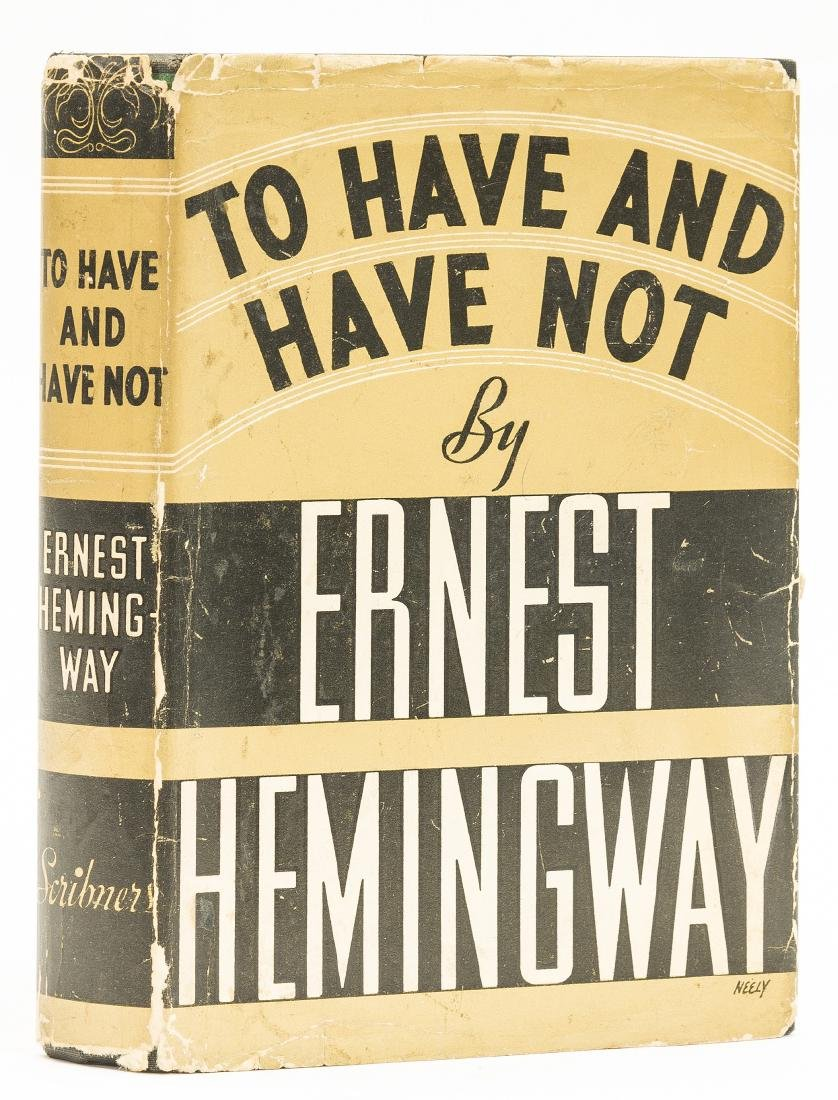 Hemingway (Ernest) To Have and Have Not, first edition,