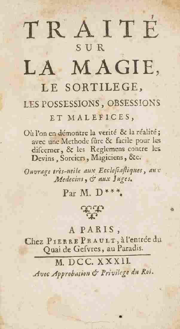 D[augis (Antoine-Louis)] Traité sur la Magie, le