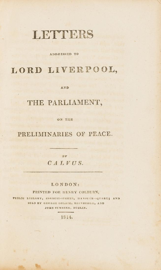 Landor (Walter Savage) Letters Addressed to Lord