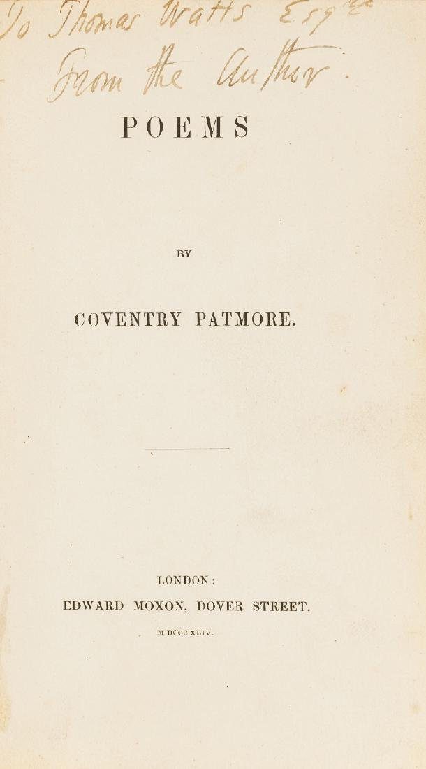 Patmore (Coventry) Poems, first edition of the author's