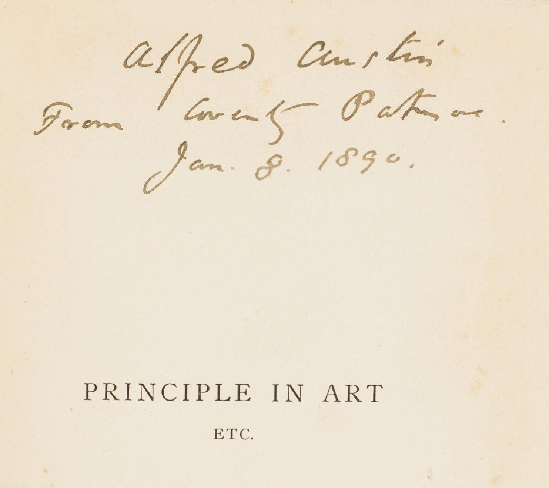 Patmore (Coventry) Principle in Art etc., first