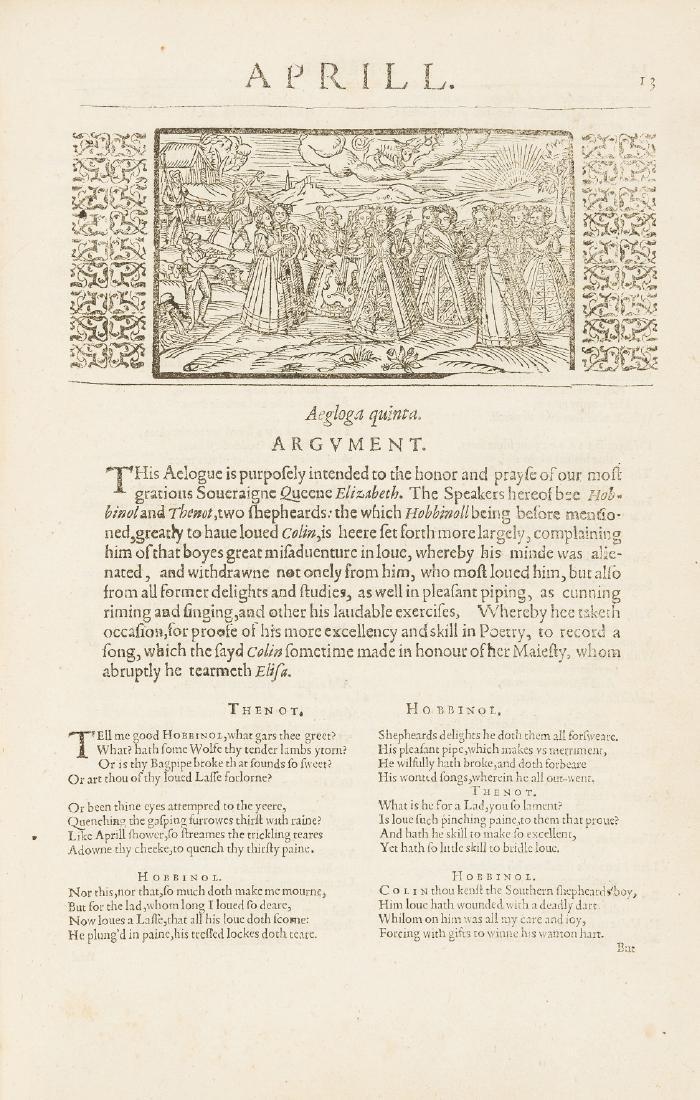 Spenser (Edmund) The Shepheards Calender, 1617.