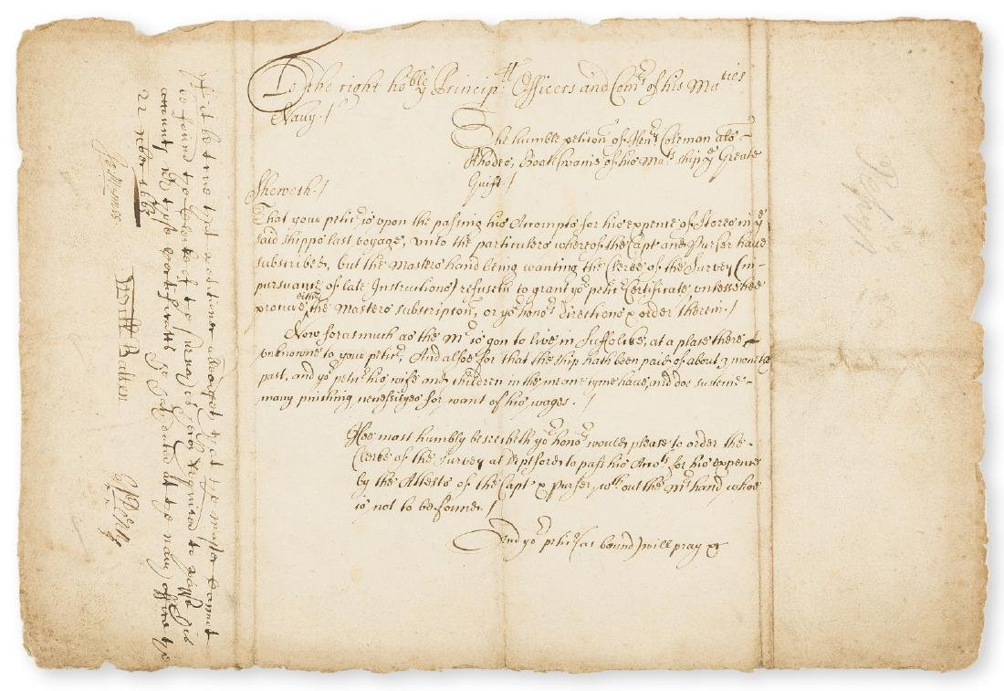 Voyage to Jamaica.- Petition of Henry Coleman,