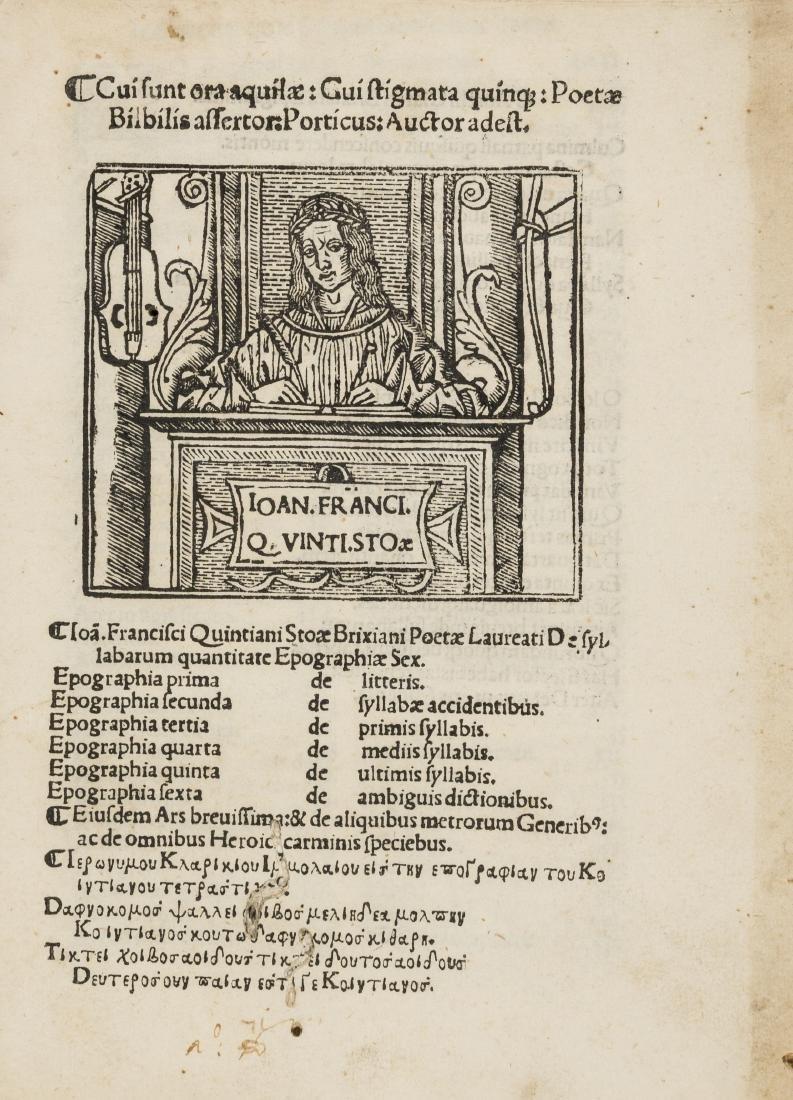 Quinziano Stoa (Giovanni Francesco) De Syllabarum