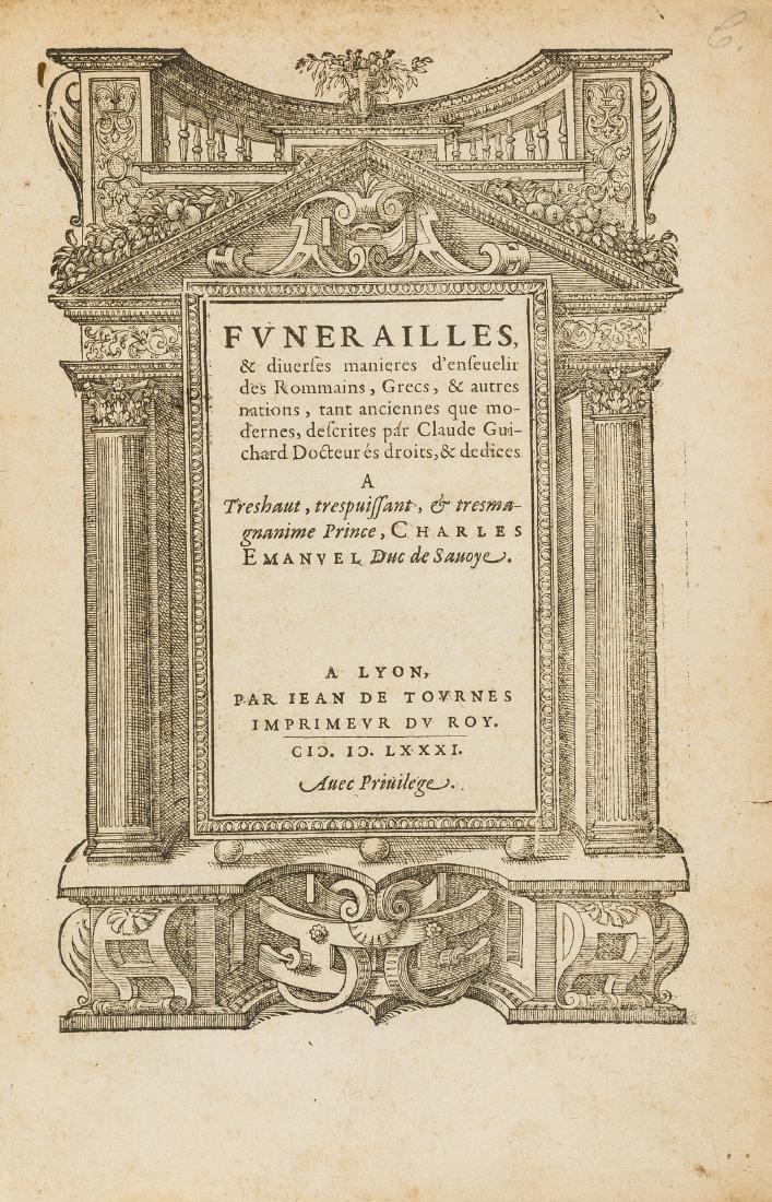 Death .- Guichard (Claude)  Funerailles, & diverses
