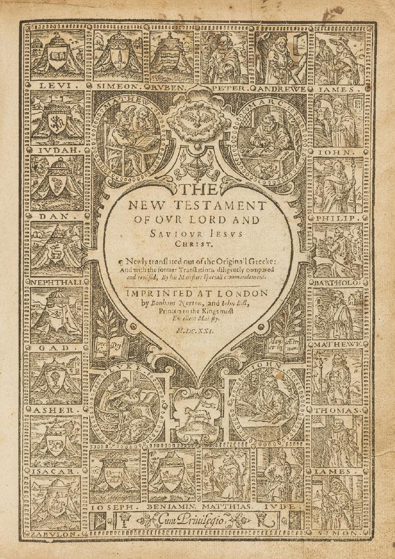 Bible, English, The Holy Bible, 1621; sold not subject
