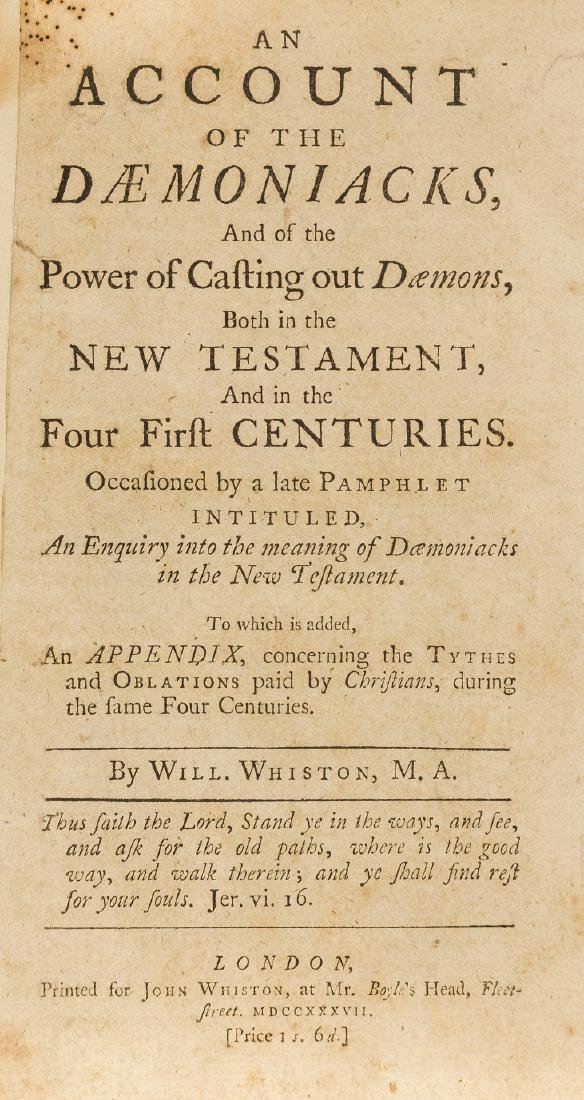 Demons.- Whiston (William) An Account of the