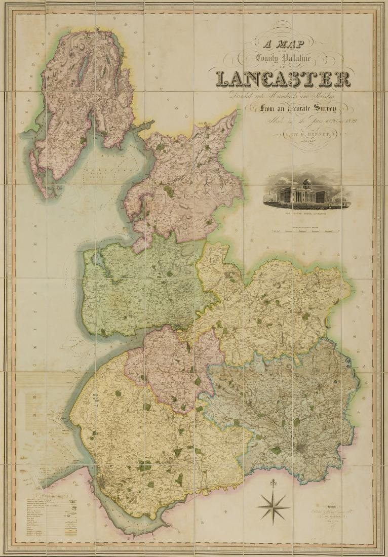 Lancashire.- Hennet (George) Surveyor. A Map of the
