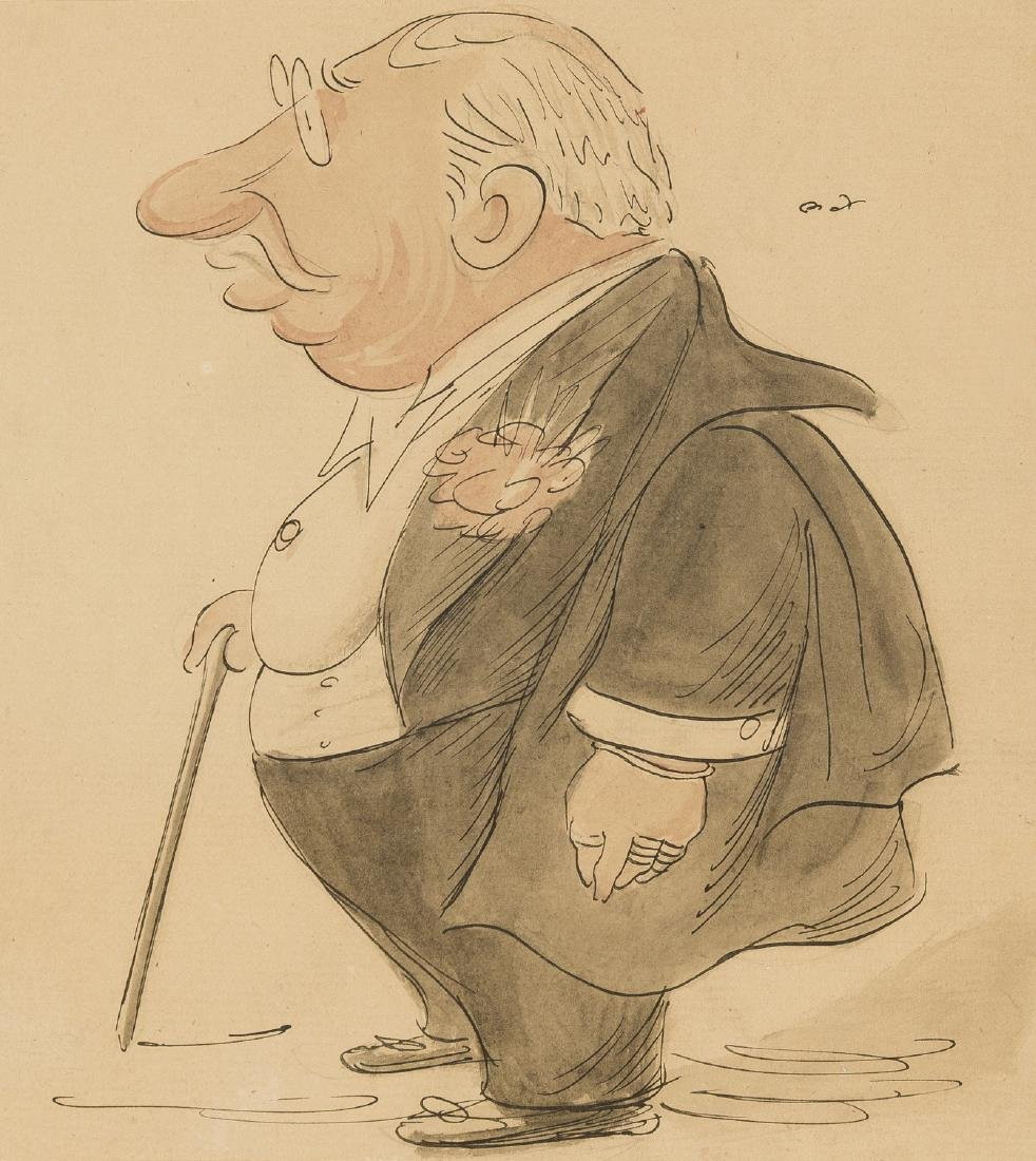 δ Beerbohm (Max) Clement Scott, pen and black ink