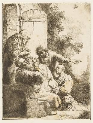 Rembrandt van Rijn (1606-1669) Joseph's coat brought to