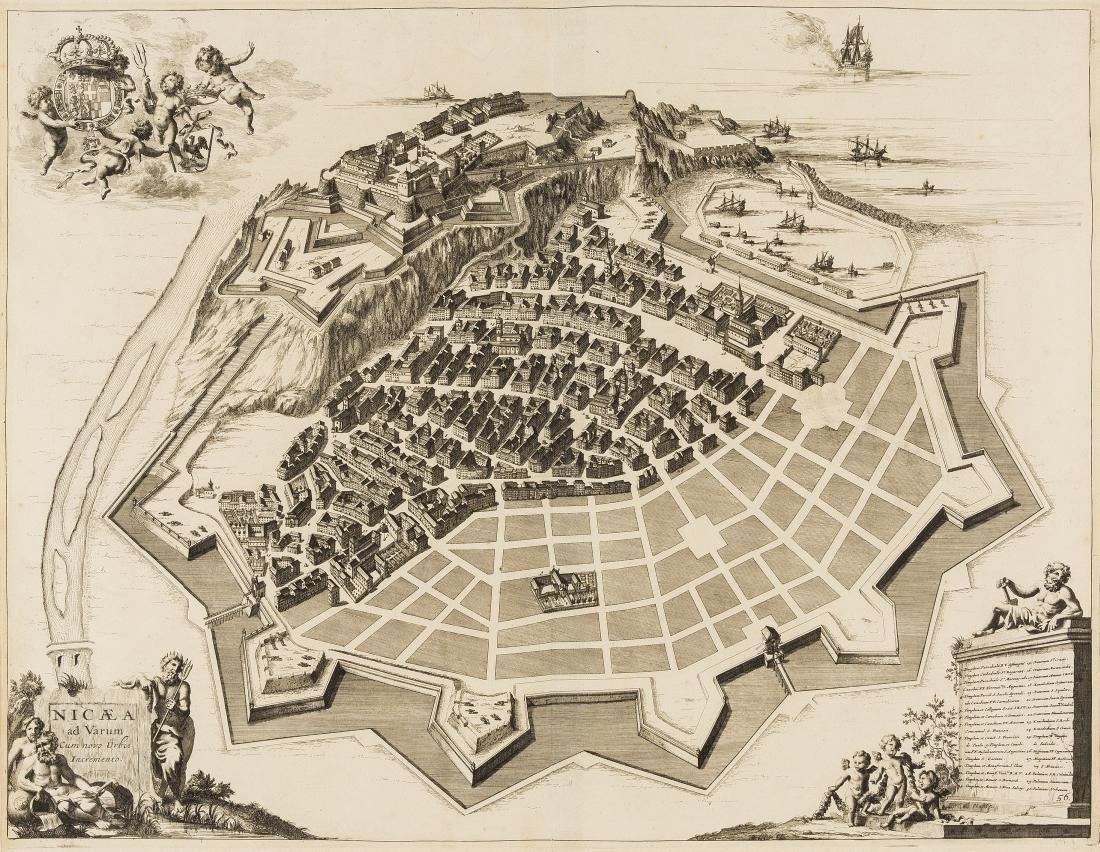 France.- Nice.- Blaeu (Joan) Nicaea ad Varum,