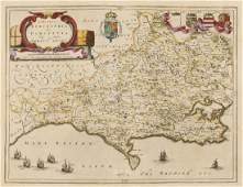 Dorset Blaeu Joan Comitatus Dorcestria sive
