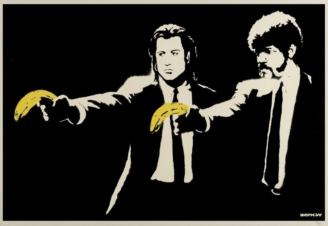 δ Banksy (b.1974)  Pulp Fiction