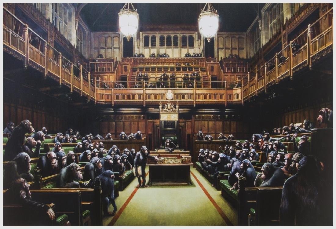 δ Banksy (b.1974) (after)  Monkey Parliament