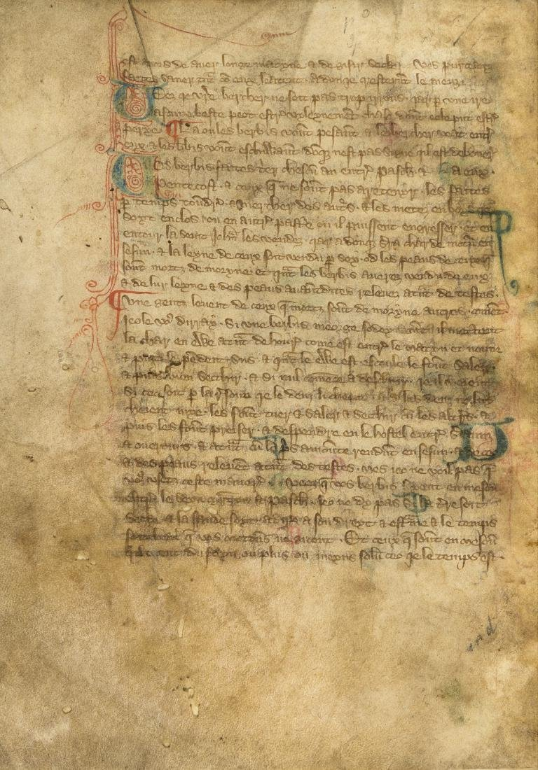 Walter of Henley. [Hosbondrye], Decorated manuscript on - 2
