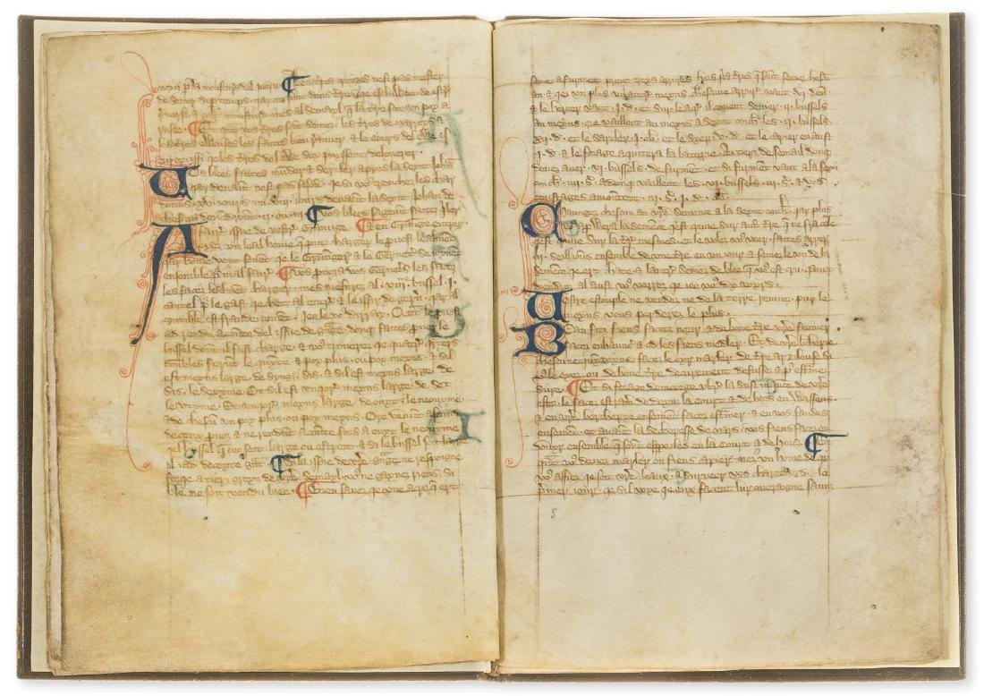 Walter of Henley. [Hosbondrye], Decorated manuscript on - 5