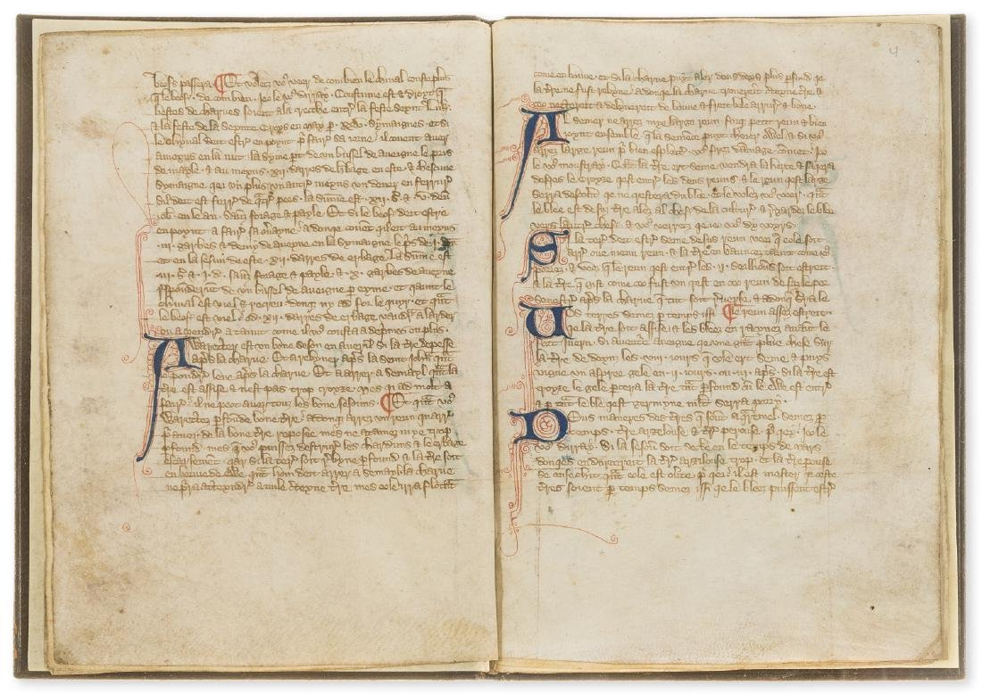 Walter of Henley. [Hosbondrye], Decorated manuscript on - 6