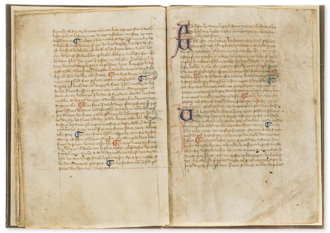 Walter of Henley. [Hosbondrye], Decorated manuscript on - 7