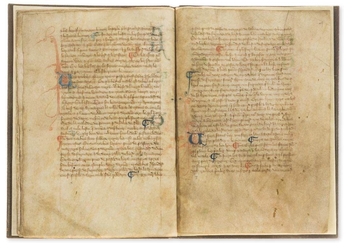 Walter of Henley. [Hosbondrye], Decorated manuscript on - 8