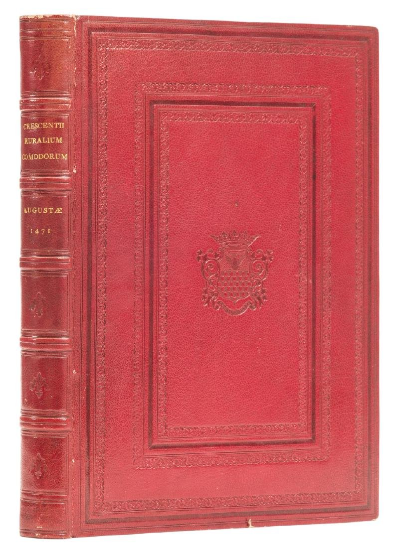 Crescentiis (Petrus de) Ruralia commoda, first edition