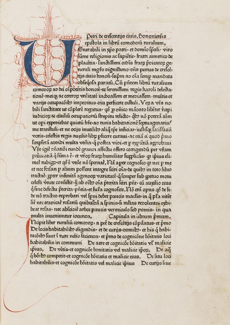 Crescentiis (Petrus de) Ruralia commoda, first edition - 2