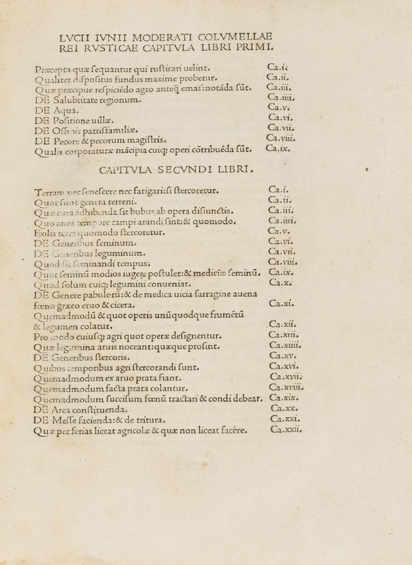 Cato (Marcus Porcius), Varro, Columella & Palladius.