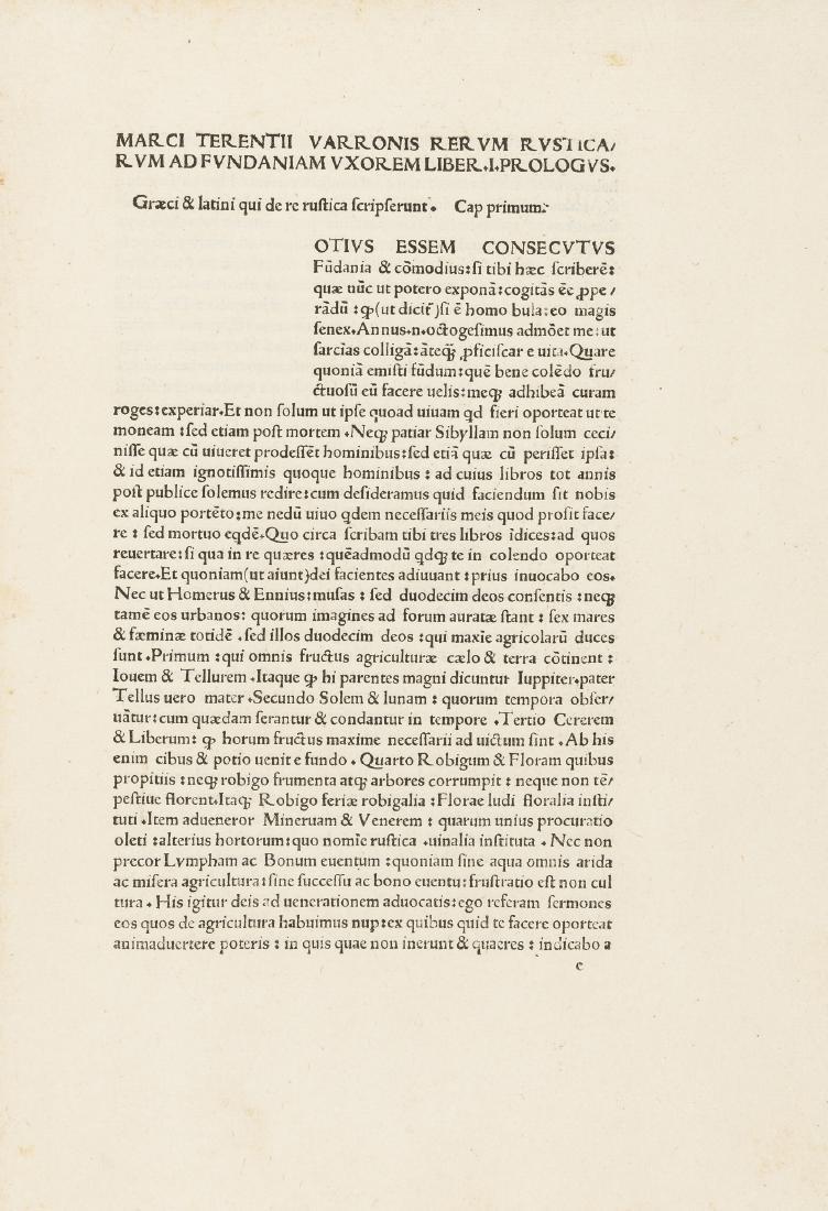 Cato (Marcus Porcius) Varro, Columella & Palladius.,