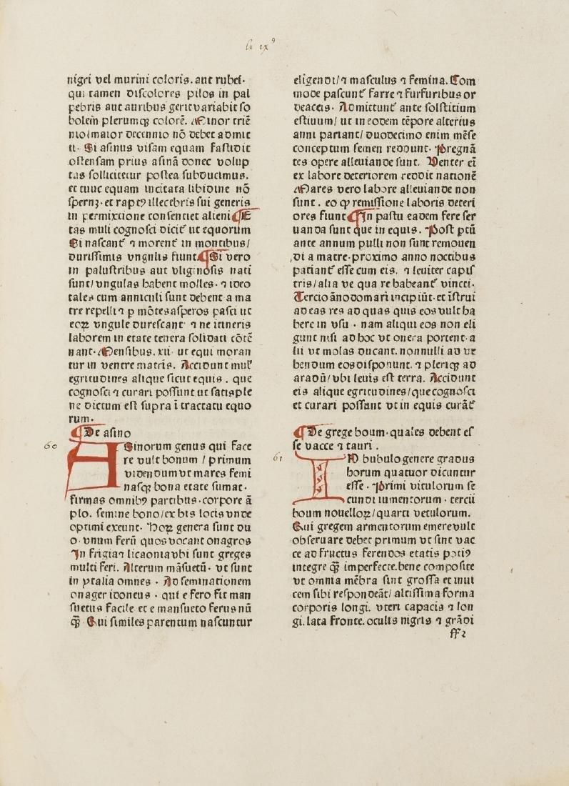 Crescentiis (Petrus de) Ruralia commoda, Louvain,