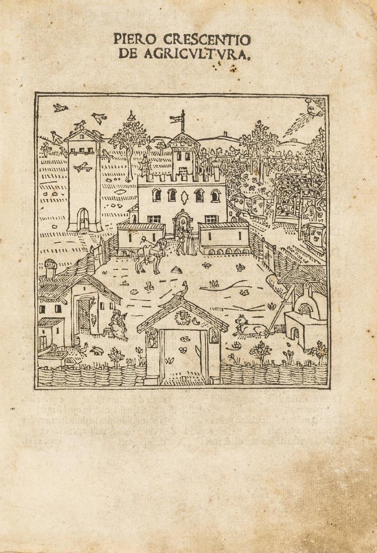 Crescentiis (Petrus de) De Agricultura, first