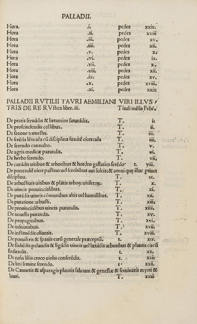 Cato (Marcus Porcius) Varro, Columella & Palladius.