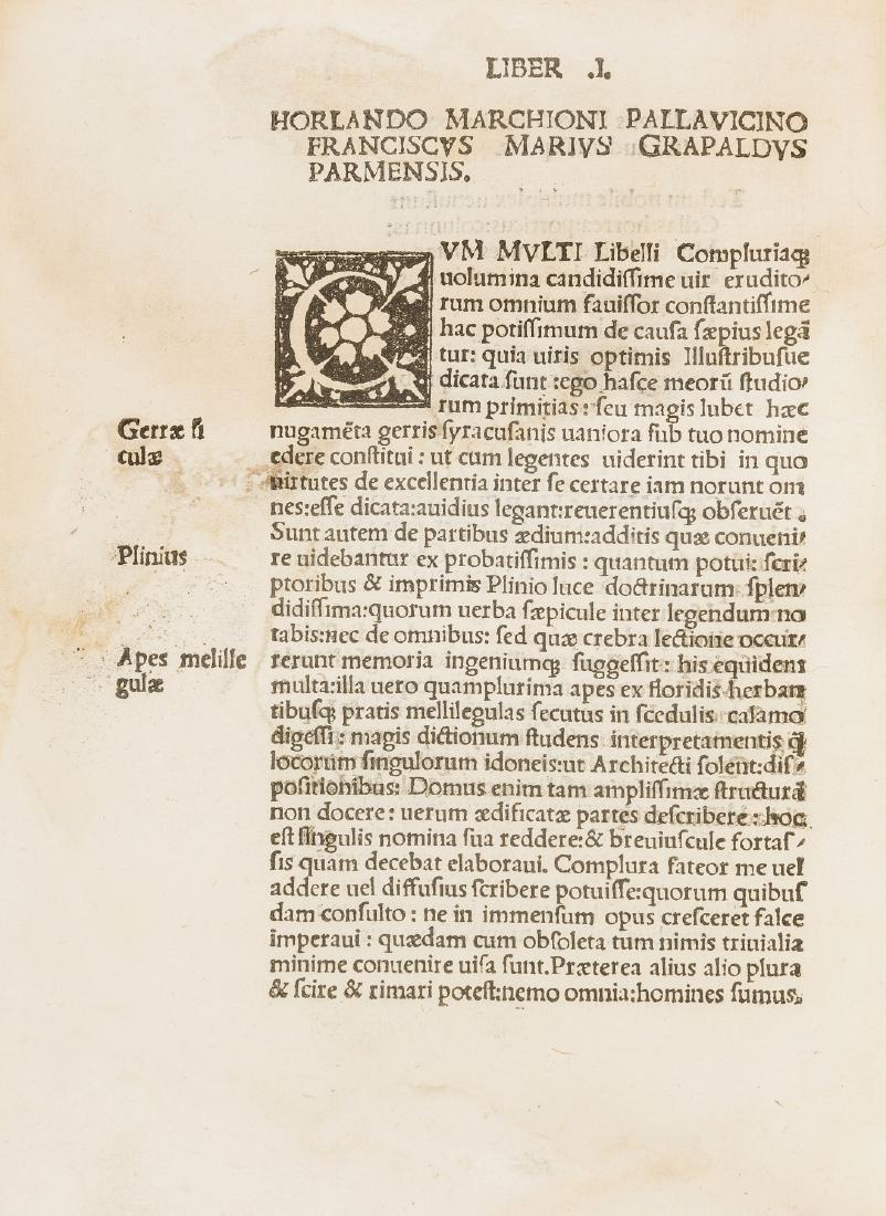 Grapaldus (Franciscus Marius) De Partibus aedium