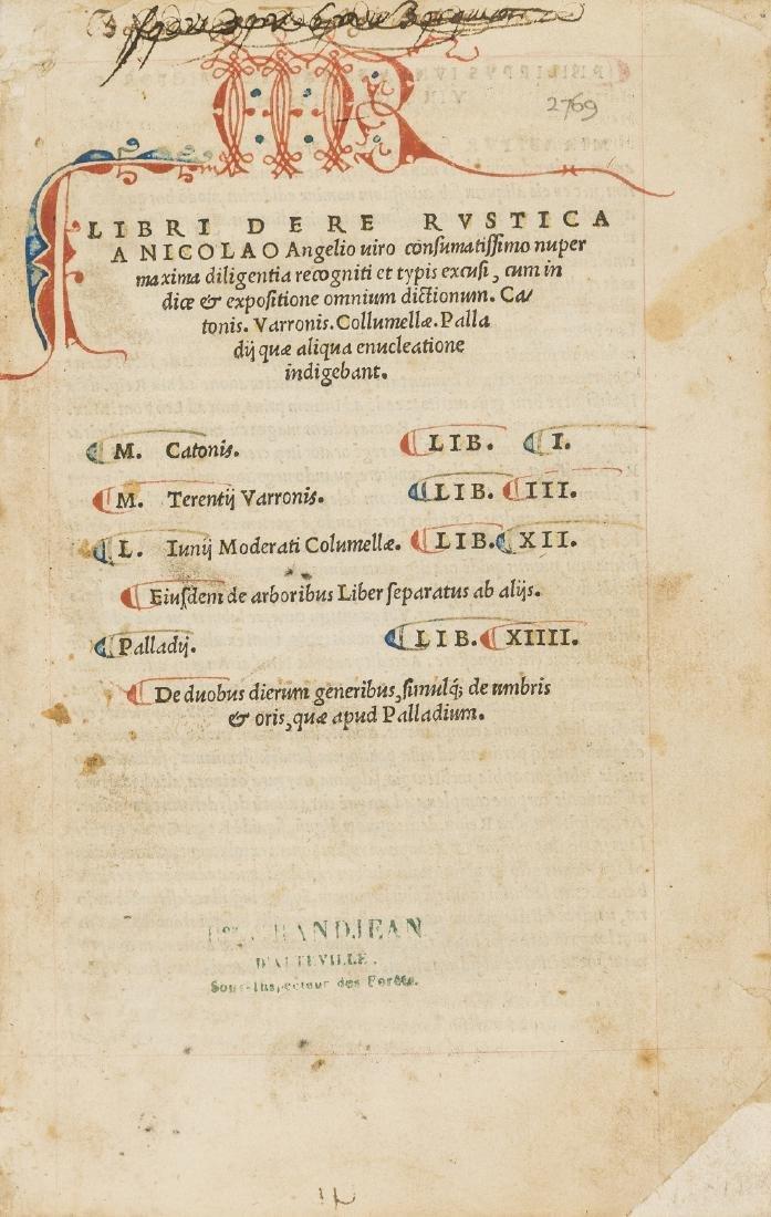 Cato (Marcus Porcius) Varro, Collumella & Palladius,