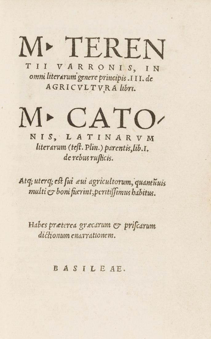 Varro (Marcus Terrentius) M. Terentij Varronis, in omni