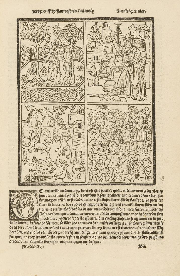 Crescentiis (Petrus de) Le livre des prouffitz - 2