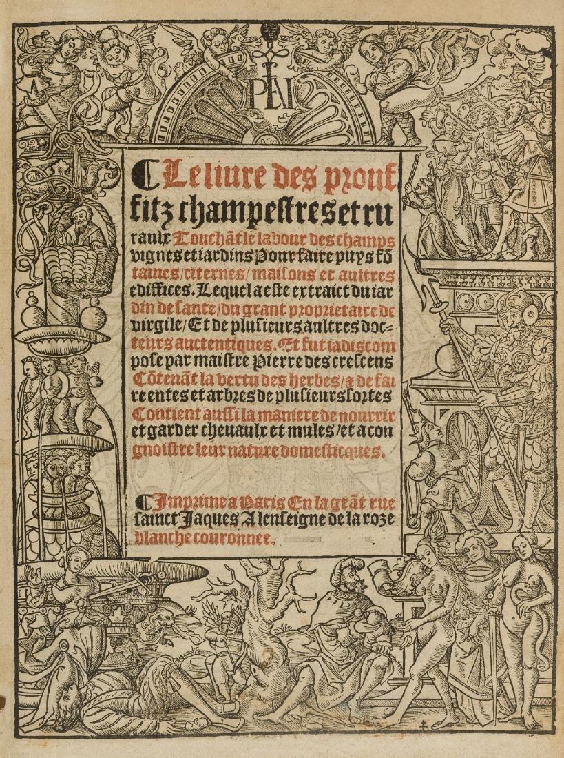 Crescentiis (Petrus de) Le livre des prouffitz - 3