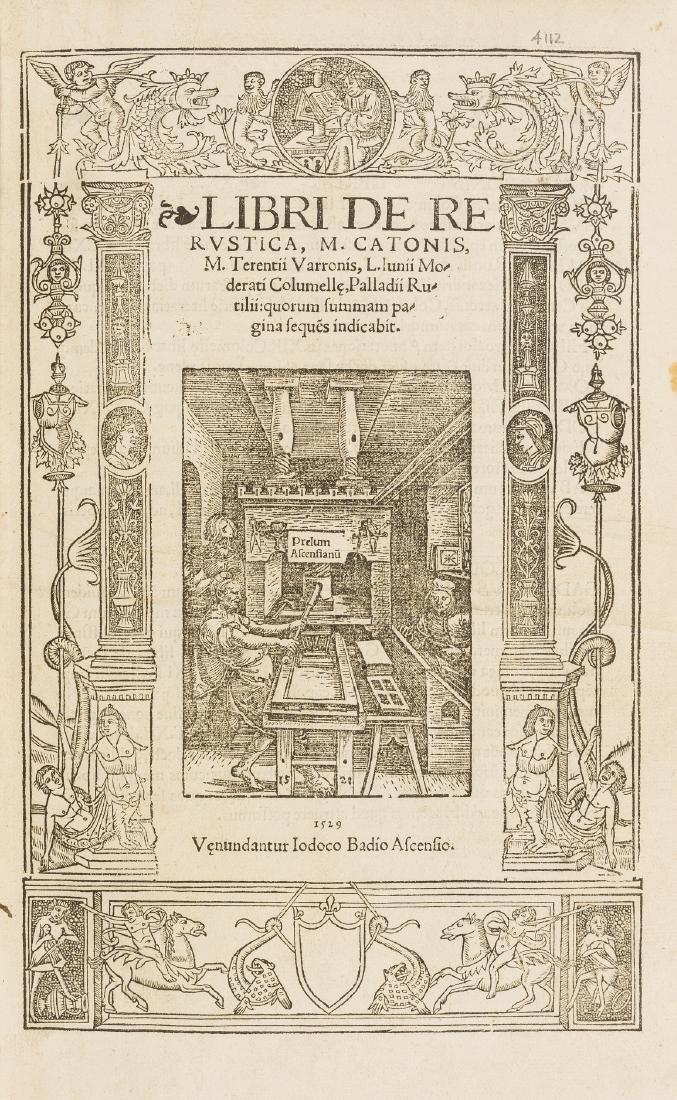 Cato (Marcus Porcius) Libri de re rustica, [Paris],