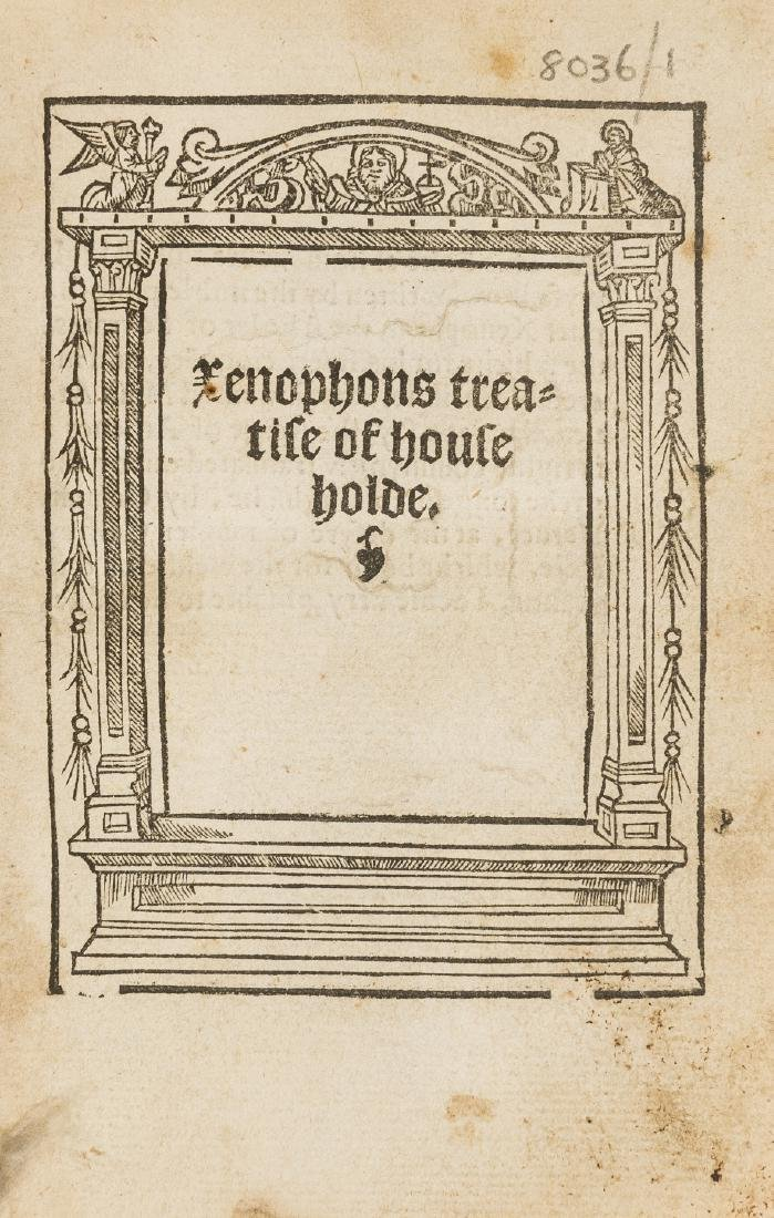 Xenophon. Xenophons treatise of householde , Imprinted