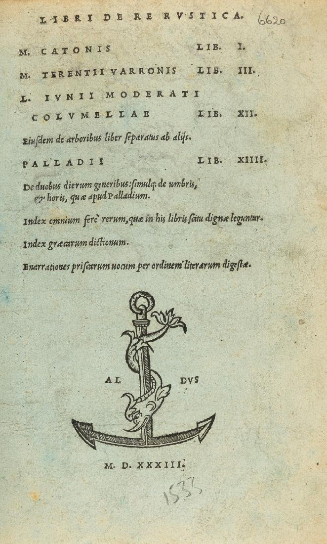 Blue paper forgery.- Cato (Marcus Porcius) Libri de re
