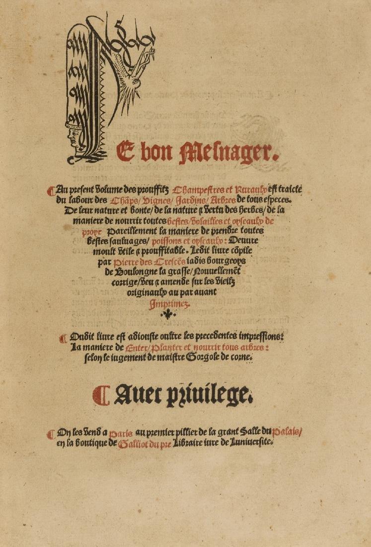 Schwerdt copy.- Crescentiis (Petrus de) Le bon