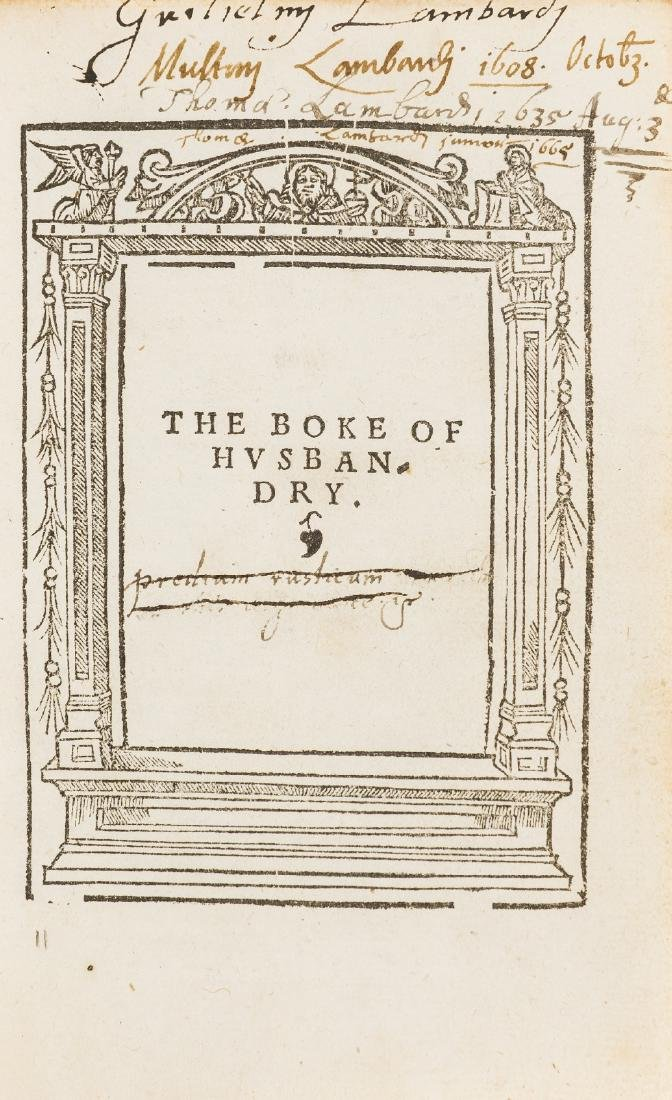 Fitzherbert (John) The Boke of Husbandry, William