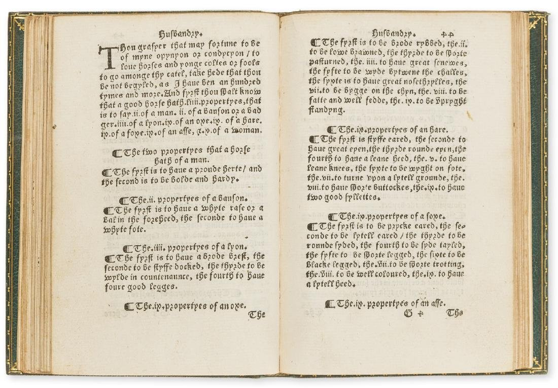 Fitzherbert (John) The Boke of Husbandry, William - 2