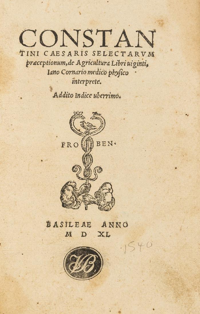 Geoponica, Latin. Constantini Caesaris selectarum