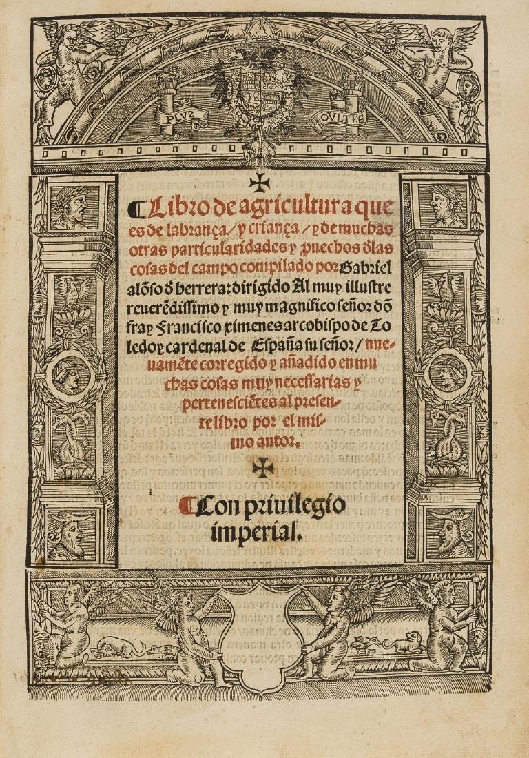 Alonso de Herrera (Gabriel) Libro de agricultura, Con