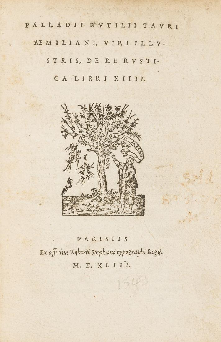 Palladius (Rutilius Taurus) De re rustica libri XIIII,