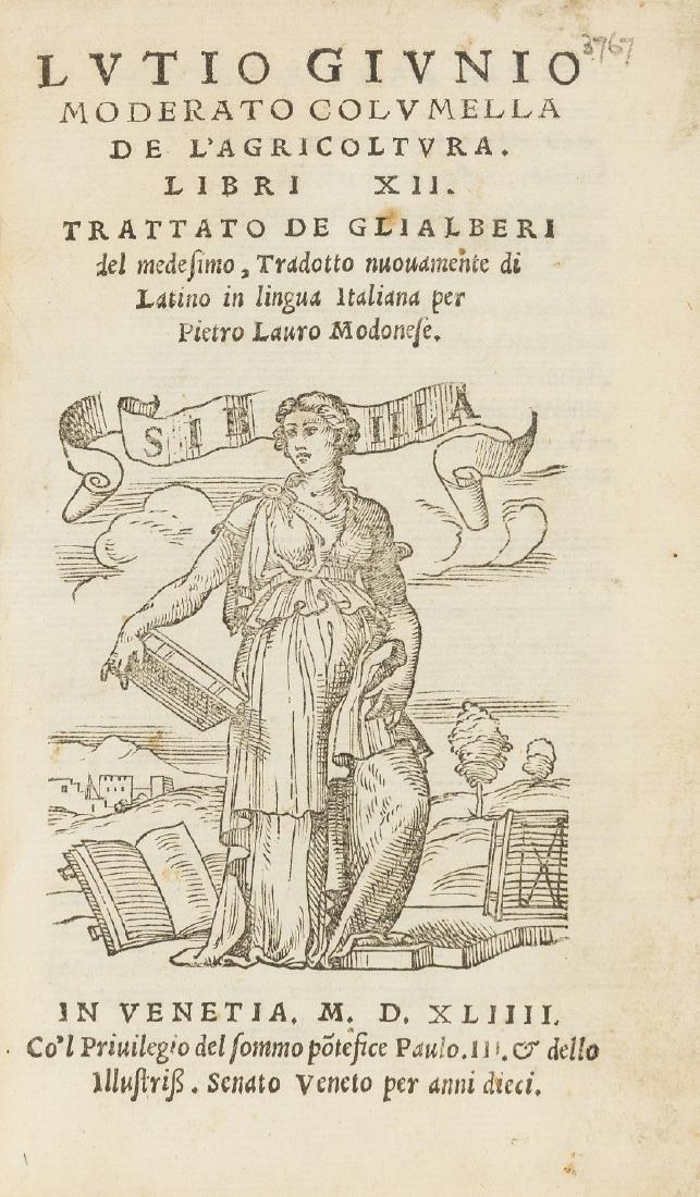 Columella (Lucius Junius Moderatus) De l'Agricoltura.